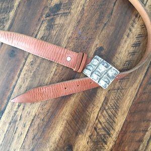 Men's Italian leather casual belt